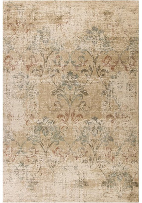 "Kas Rugs & Home Heritage Champagne Damask Area Rug, 5'3""x7'8"""