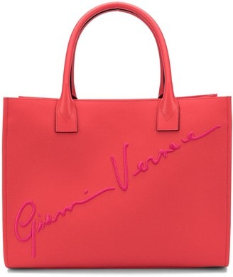 Versace Logo Signature Tote Bag