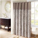 JCPenney Aubrey Madison Park Whitman Shower Curtain Pieced with Faux Dupioni