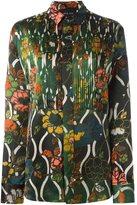 Michel Klein 'arts nouveau' print shirt