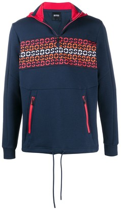 HUGO BOSS Embroidered Logo Zip Sweatshirt