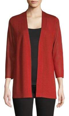 Cable & Gauge Knit Open-Front Cardigan
