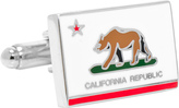 Cufflinks Inc. Men's California State Flag Cufflinks