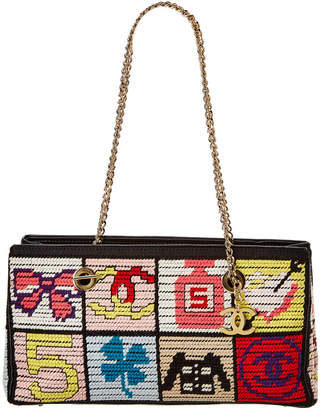 Chanel Multicolor Canvas Icon Tote