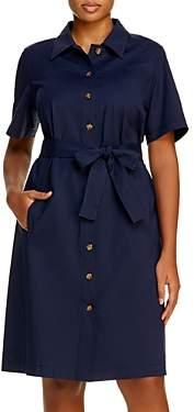 Lafayette 148 New York Plus Kylie Short-Sleeve Shirt Dress