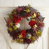 """Pier 1 Imports Faux Red Peony & Blue Gourd 22"""" Wreath"""
