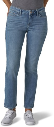 Lee Women's Secretly Shapes Straight-Leg Jeans
