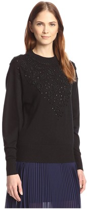 By Ti Mo Women's Beaded Sweater