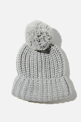 Rubi Chunky Knit Pom Pom Beanie