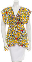 Tsumori Chisato Printed V-Neck Top w/ Tags