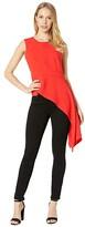 BCBGMAXAZRIA Sleeveless Peplum Top (Rosso) Women's Clothing