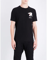 Maharishi Tiger-embroidered Cotton-jersey T-shirt