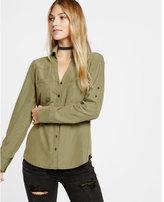 Express slim fit modal portofino shirt