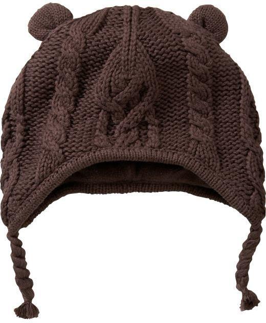 Gap Cable knit bear hat
