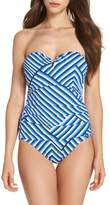 Tommy Bahama Fuller Fronds Strapless One-Piece Swimsuit