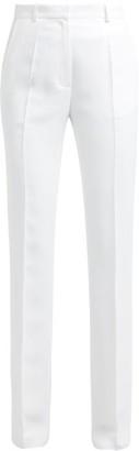 Pallas X Claire Thomson-jonville - Edison High-rise Crepe Trousers - Womens - White