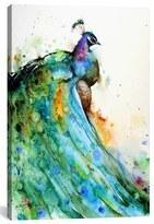 iCanvas 'Peacock - Dean Crouser' Giclee Print Canvas Art