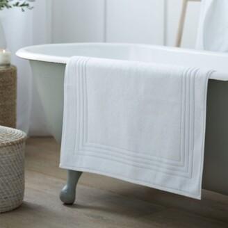The White Company Egyptian Bath Mat, White, SQUARE