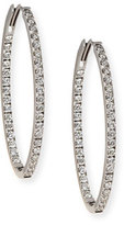 Memoire 18K White Gold & Diamond Infinity Hoop Earrings, 2.75 tdcw