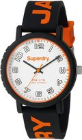 Superdry Men's 'Campus' Quartz Plastic and Silicone Dress Watch, Color:Black (Model: SYG196OB)