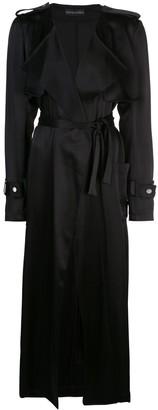 David Koma Satin Trench Coat