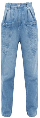Isabel Marant Kerris High-rise Tapered-leg Jeans - Light Denim