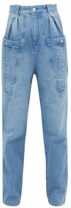 Isabel Marant Kerris High-rise Tapered-leg Jeans - Womens - Light Denim