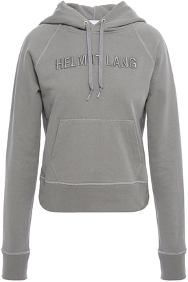 Helmut Lang Embroidered French Cotton-terry Hoodie