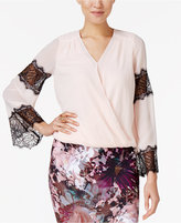 Thalia Sodi Lace-Trim Blouson Top, Only at Macy's