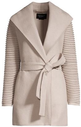 Sentaler Ribbed Wrap Coat