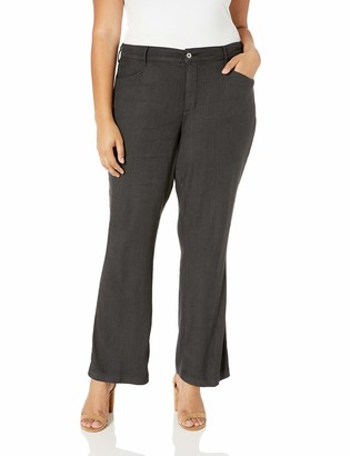 NYDJ Women's Plus Size Linen Trouser