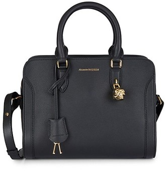 Alexander McQueen Small Pebbled Leather Satchel