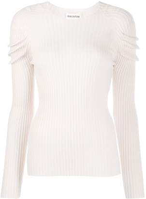 Semi-Couture Semicouture ruched detail ribbed jumper
