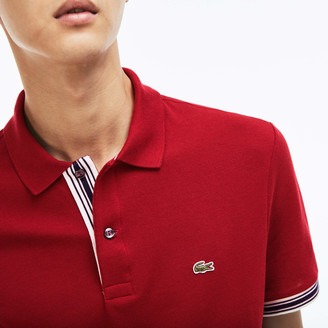 Lacoste Men's Slim Fit Piped Sleeves Pique Polo