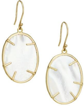 Annette Ferdinandsen Small 14K Yellow Gold & Mother-Of-Pearl Silver Dollar Drop Earrings
