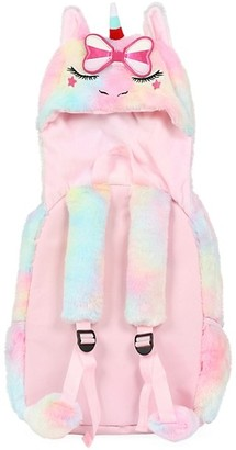Under One Sky Letty Unicorn Hooded Plush Backpack