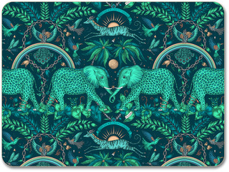 Emma J Shipley - Zambia Placemat - Teal - Teal