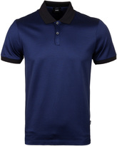Boss Penrose 05 Deep Blue Fine Stripe Polo Shirt