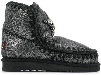 Mou Metallic Boots With Star Patch