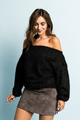 Gibson Blushing Rose Off the Shoulder Soft Sweater