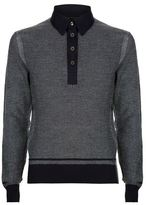 Tom Ford Knitted Jacquard Polo Shirt