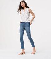 LOFT Modern Skinny Ankle Jeans in Destructed Light Stonewash