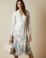Ted Baker ELLIAN Pergola long sleeved midi dress