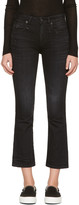 R 13 Black Kick Fit Jeans