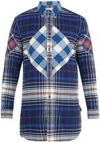 Givenchy Patchwork checked cotton shirt