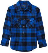 Ralph Lauren Plaid Cotton Western Shirt