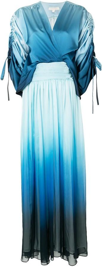 Jonathan Simkhai Ombre Panel Maxi Dress