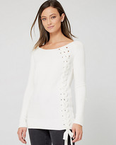 Le Château Brushed Viscose Lace-Up Sweater