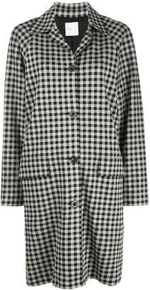 Rosetta Getty Gingham Single-Breasted Coat