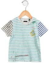 Ikks Boys' Striped Short Sleeve Shirt